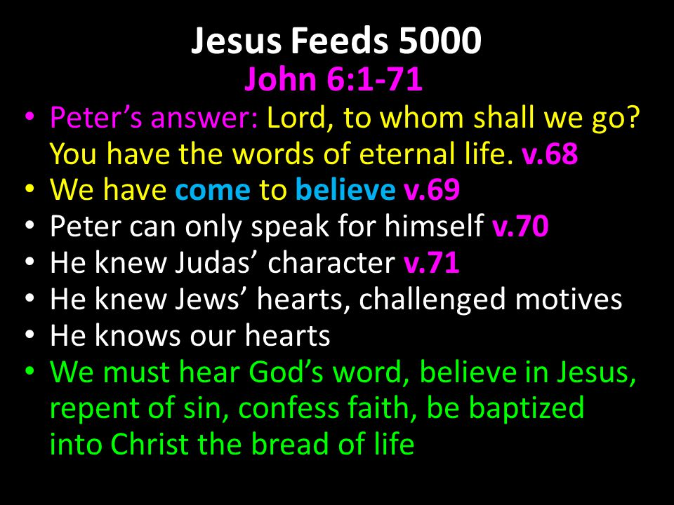 JESUS FEEDS 5000 JOHN Ppt Download