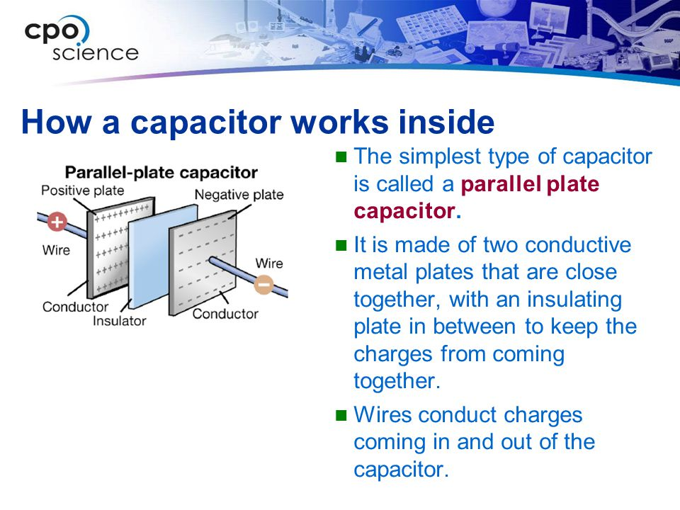 How a capacitor works inside