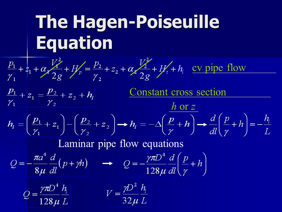 Hagen Poiseuille Equation Derivation Pdf