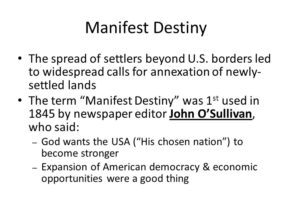 Try These Manifest Destiny Definition Apush {Mahindra Racing}