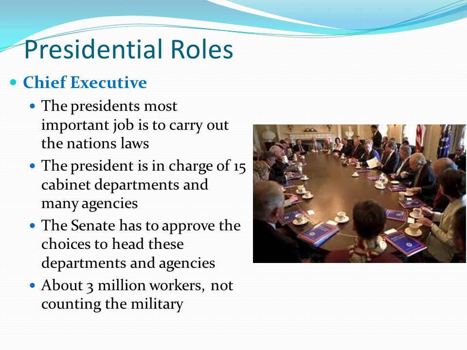 how many departments are in the cabinet the executive branch chapter 8 ppt 16691