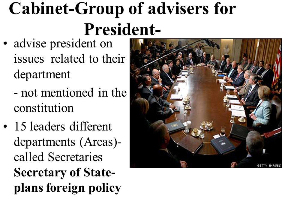 Cabinet-Group of advisers for President-
