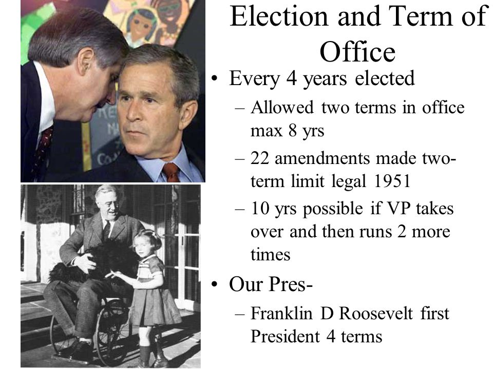 Election and Term of Office