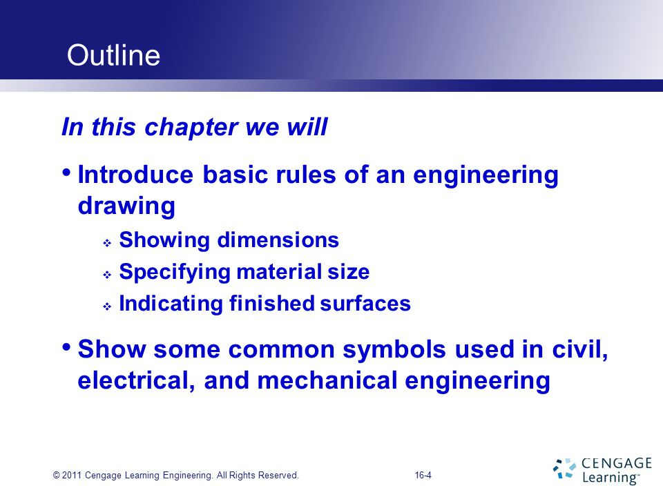 CHAPTER 16 Engineering Drawings and Symbols - ppt video online download