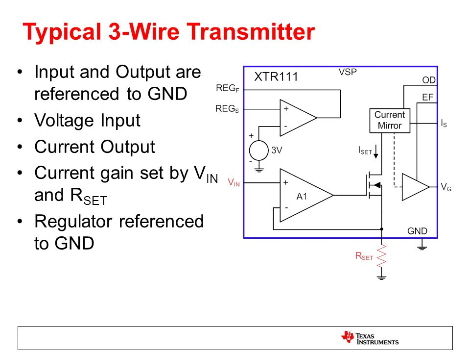 typical 3-wire transmitter
