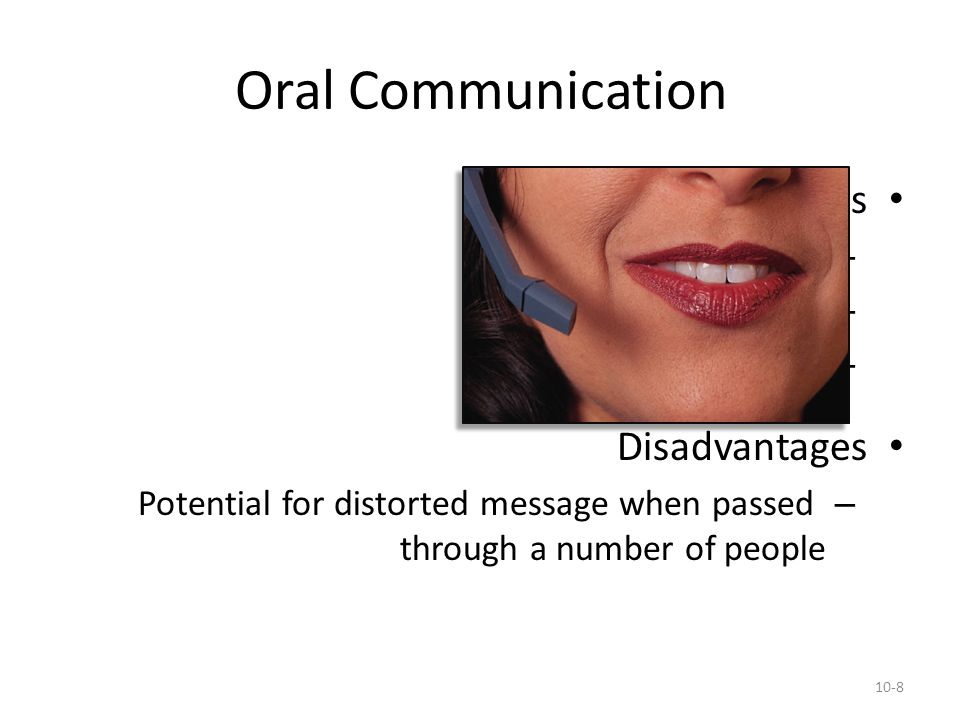 Oral Communication Advantages Disadvantages Speed Feedback