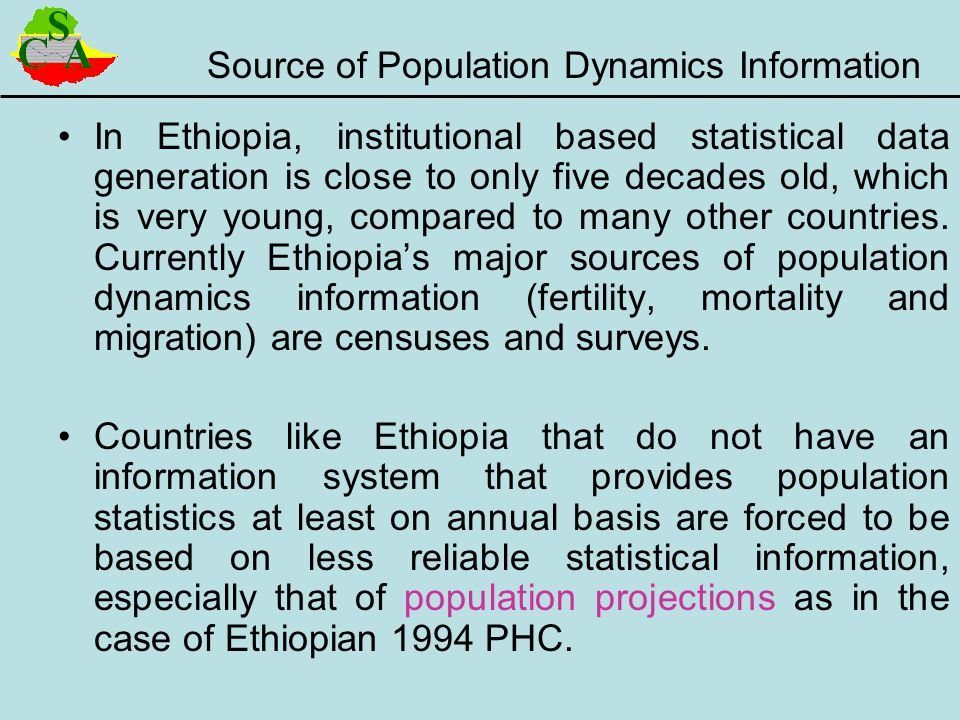 Source of Population Dynamics Information