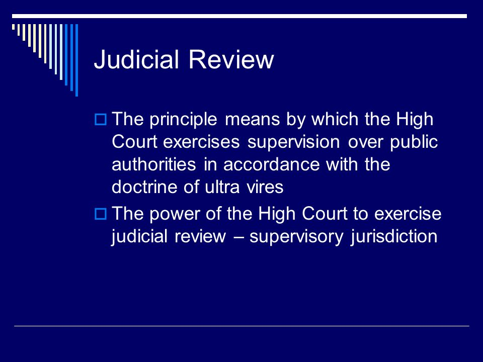 what is judicial control