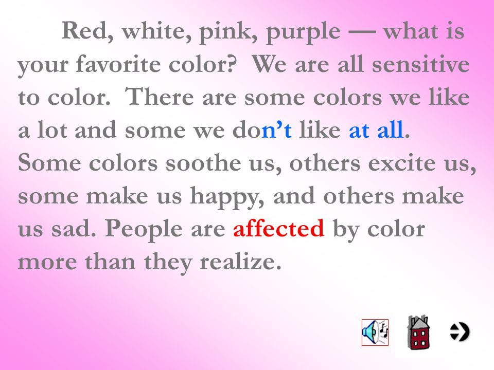 Red White Pink Purple What Is Your Favorite Color
