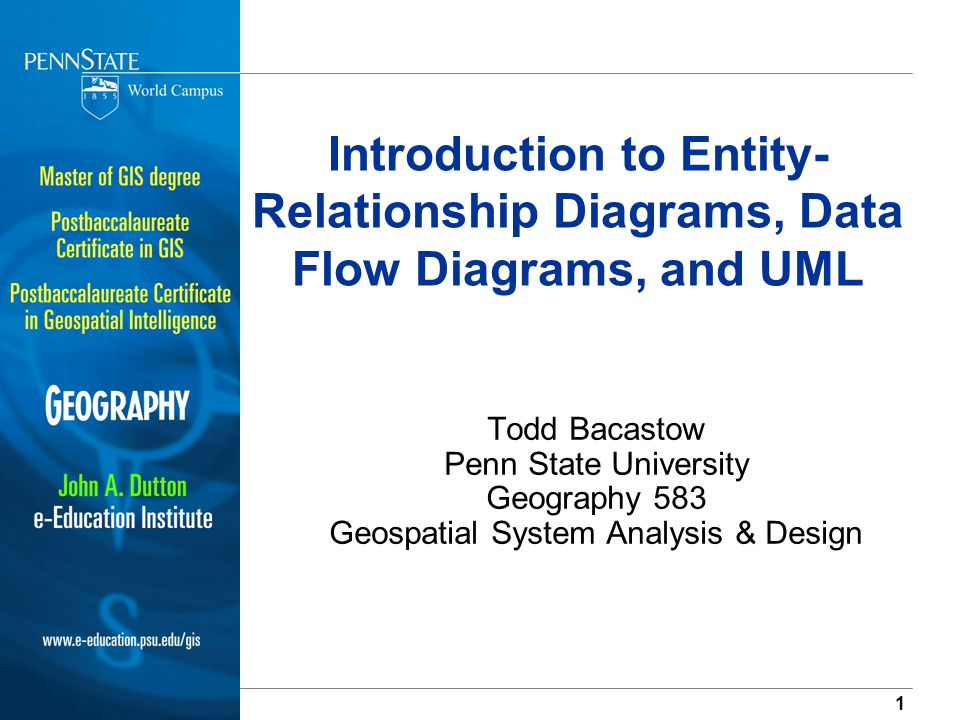 Introduction To Entity Relationship Diagrams Data Flow Diagrams