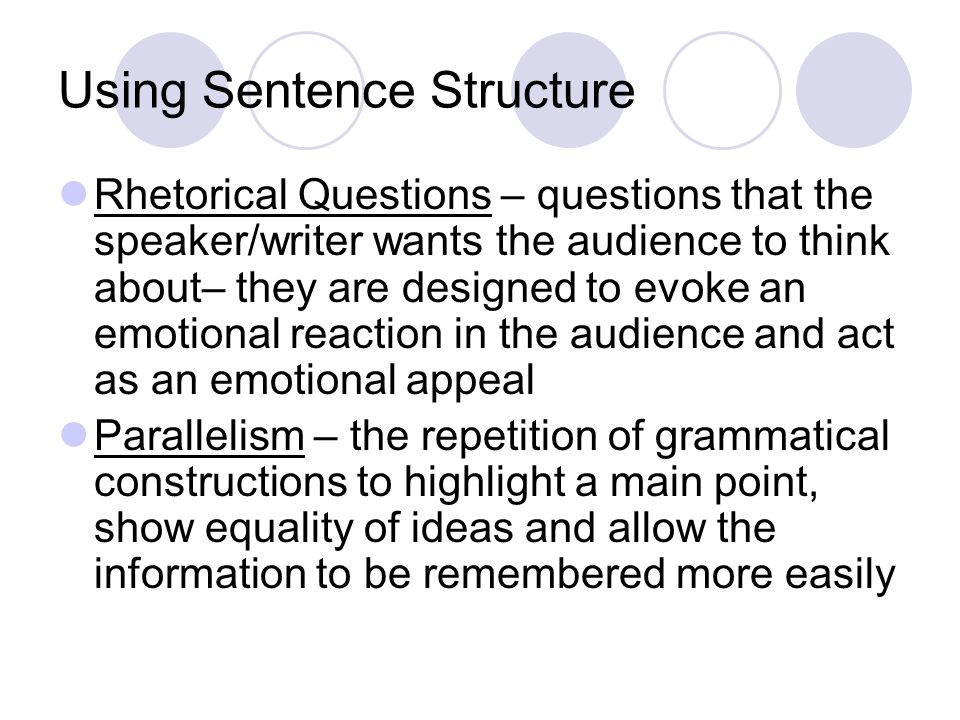 Using Sentence Structure