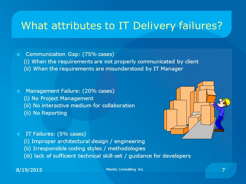 What attributes to IT Delivery failures