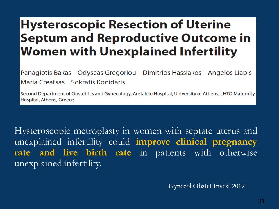 Hysteroscopic Septum Resection Ppt Video Online Download