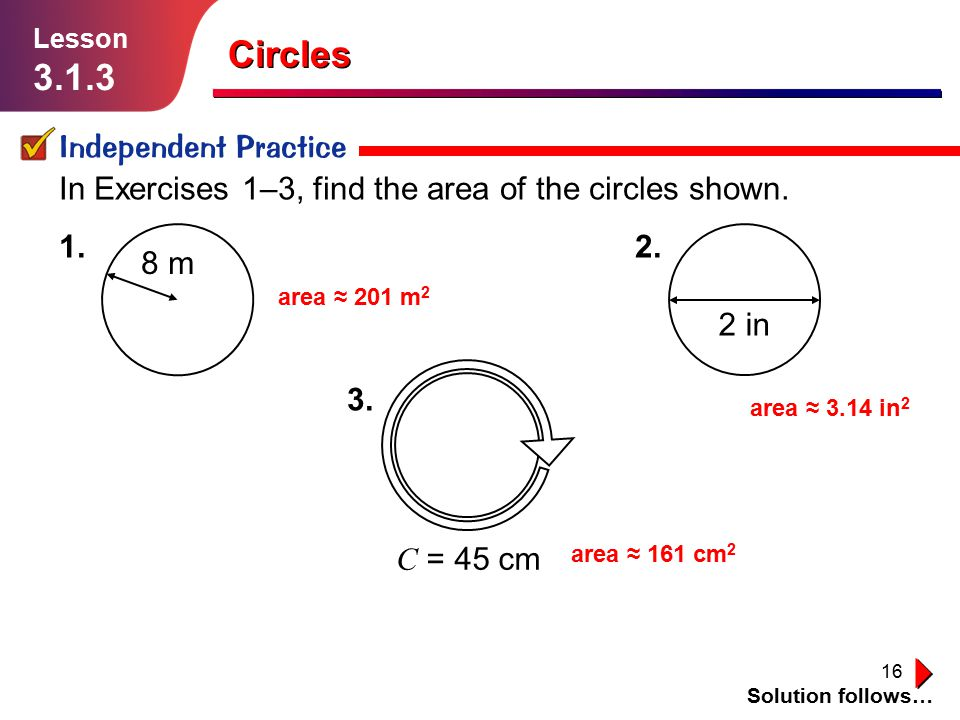 Circles Independent Practice