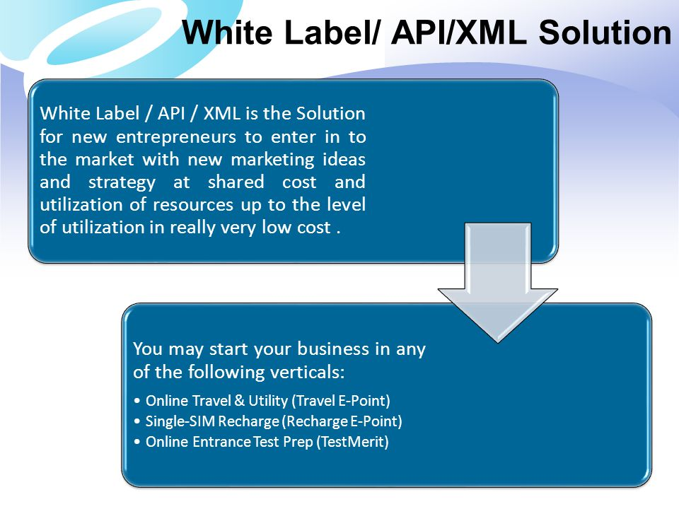 White Label/ API/XML Solution