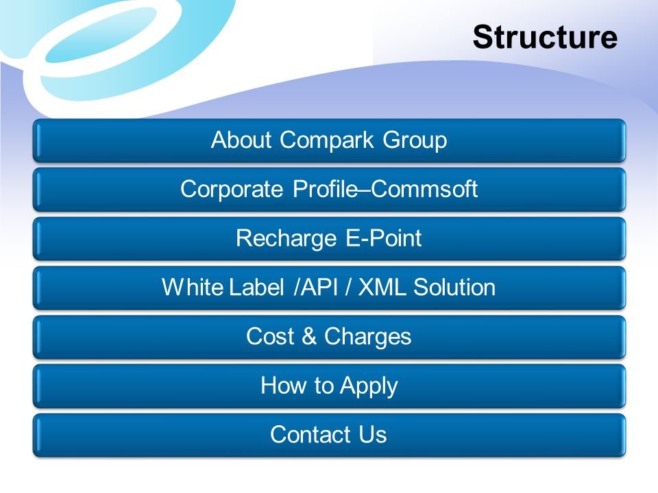 Structure About Compark Group Corporate Profile–Commsoft