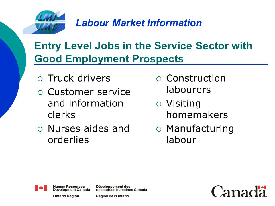 Entry Level Jobs in the Service Sector with Good Employment Prospects