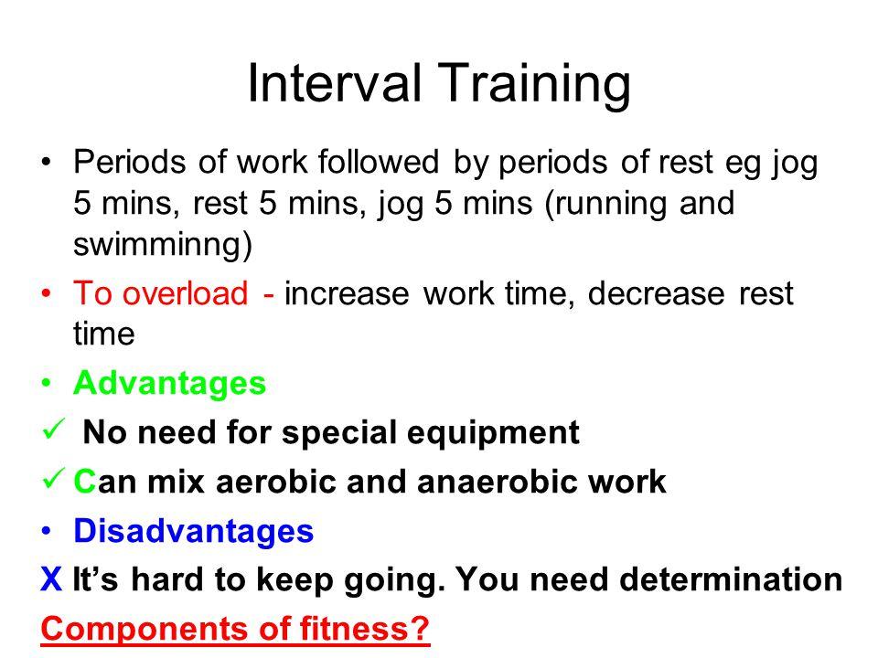 Training Methods Weight Training Circuit Training Fartlek Training