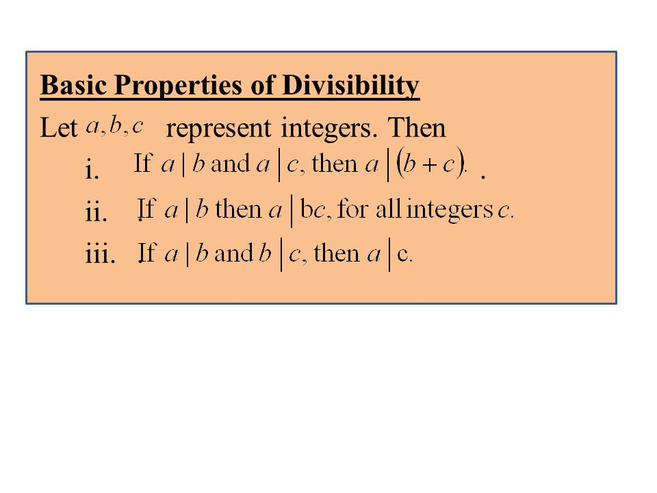 Basic Properties of Divisibility