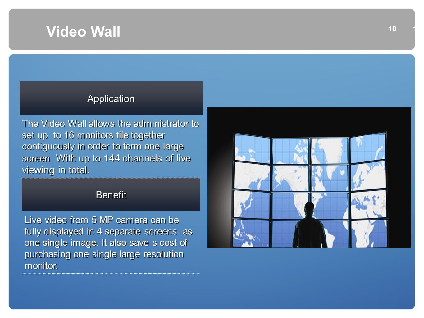 Video Wall Application Benefit