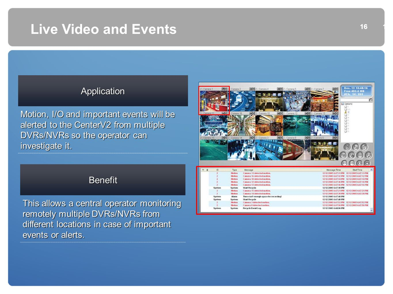 Live Video and Events Application Benefit