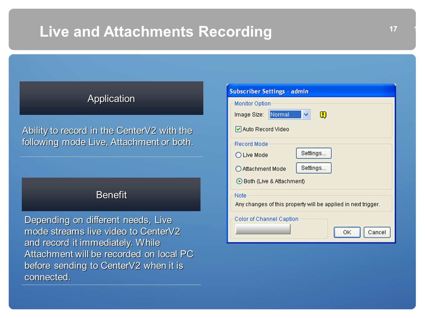 Live and Attachments Recording