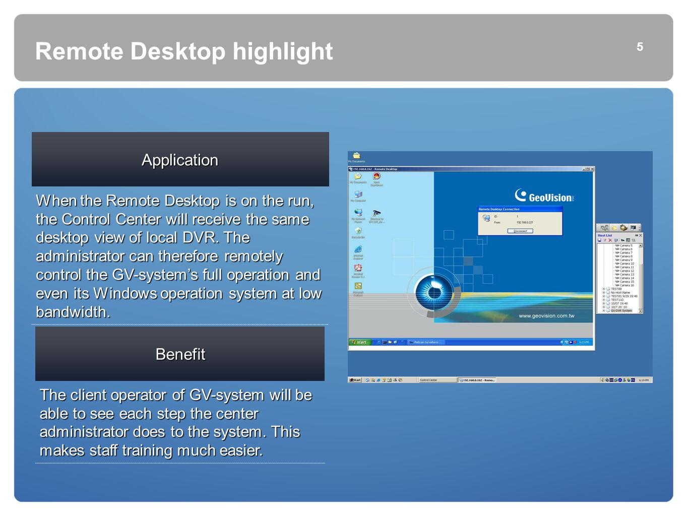 Remote Desktop highlight