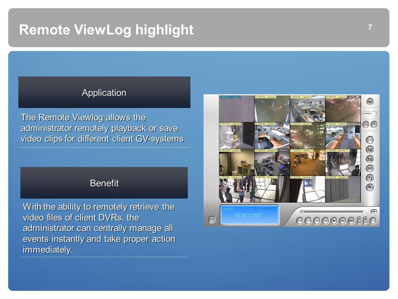 Remote ViewLog highlight
