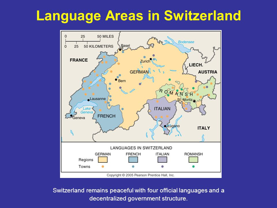 Language Areas in Switzerland