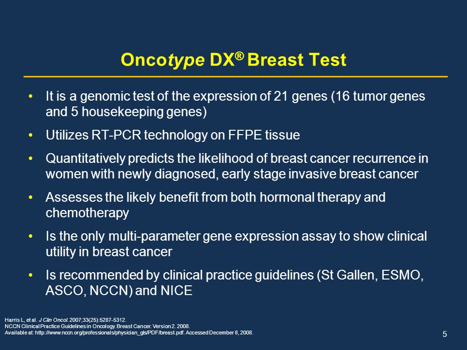 Oncotype Dx A Genomic Approach To Breast Cancer Ppt Download