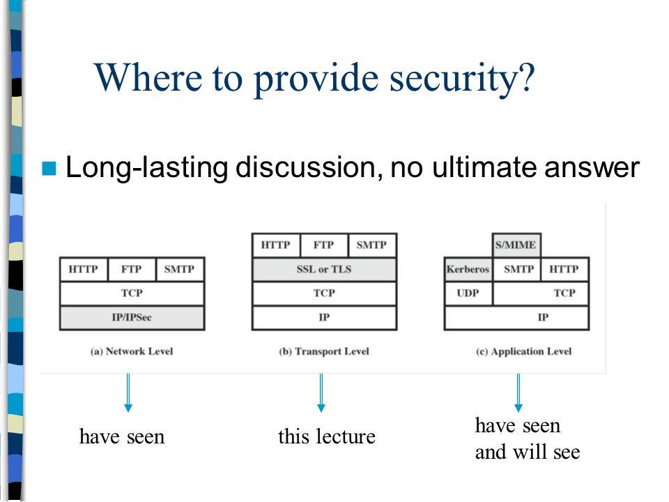 Transport-level and Web Security (SSL / TLS, SSH) - ppt