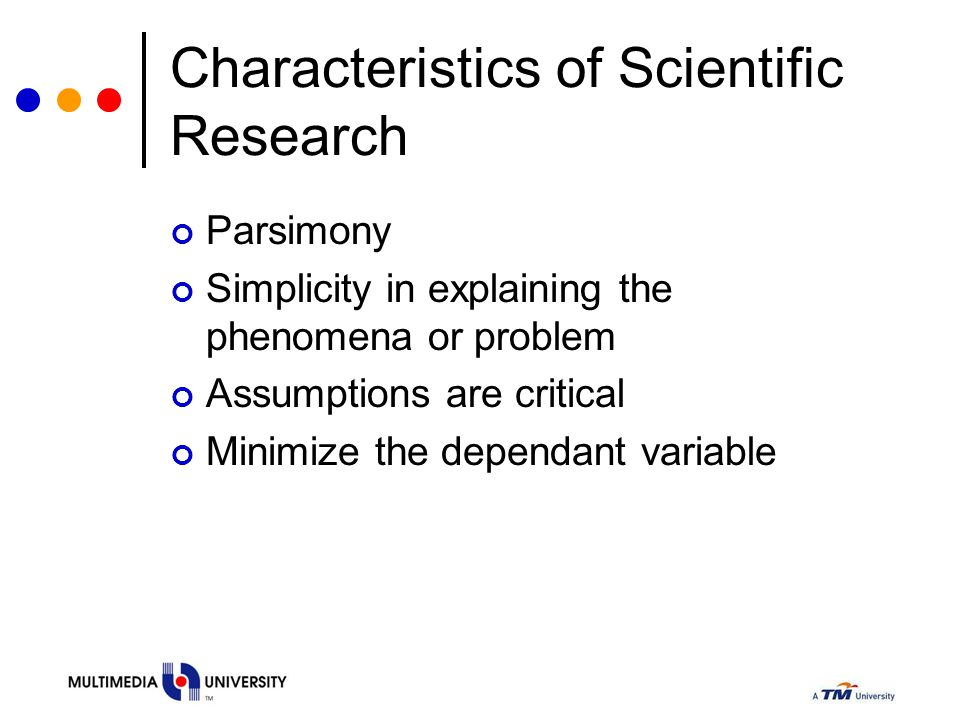 Characteristics of Scientific Research