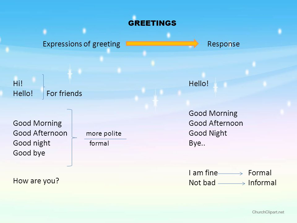 Greetings and introduction ppt video online download good afternoon more polite good night formal good bye m4hsunfo