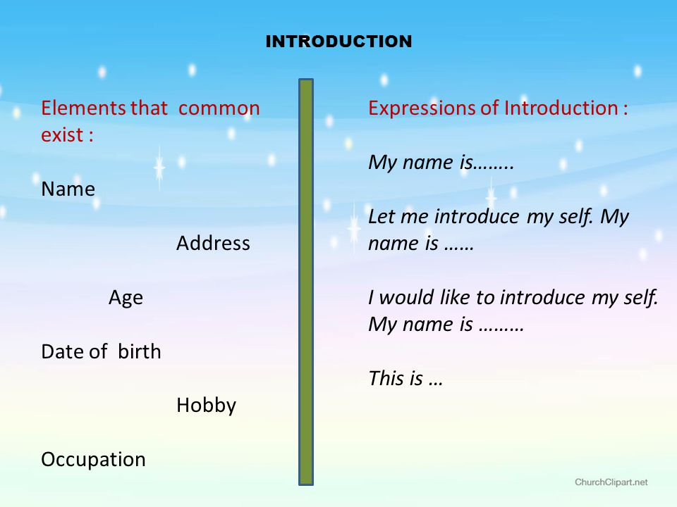 Greetings and introduction ppt video online download 3 elements m4hsunfo