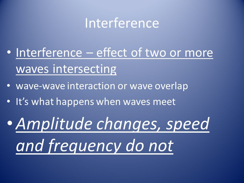 Amplitude changes, speed and frequency do not