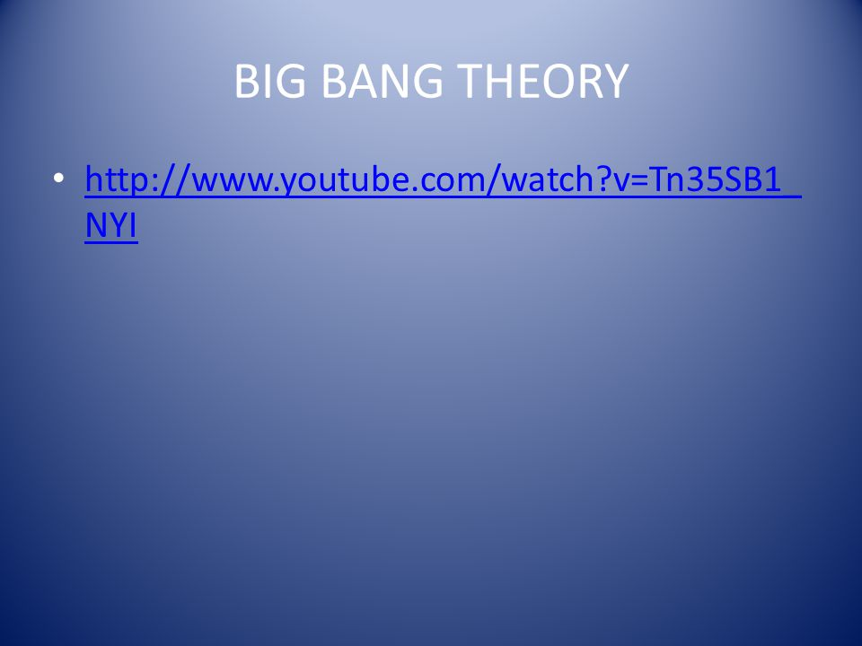 BIG BANG THEORY   v=Tn35SB1_NYI