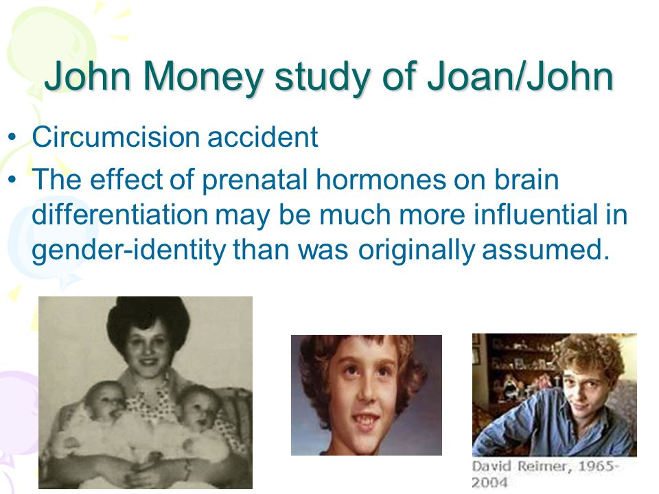 John Money study of Joan/John