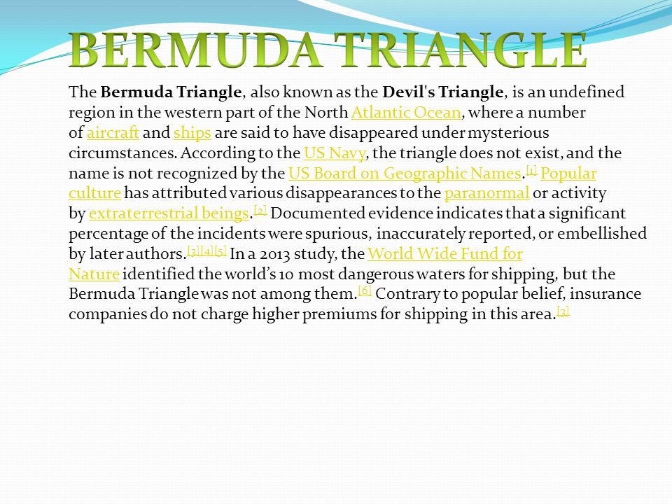 Example Essay Papers Bermuda Triangle Persuasive Essay Topics For High School Students also Thesis Statement For A Persuasive Essay Bermuda Triangle  Ppt Video Online Download Thesis Statement For Definition Essay