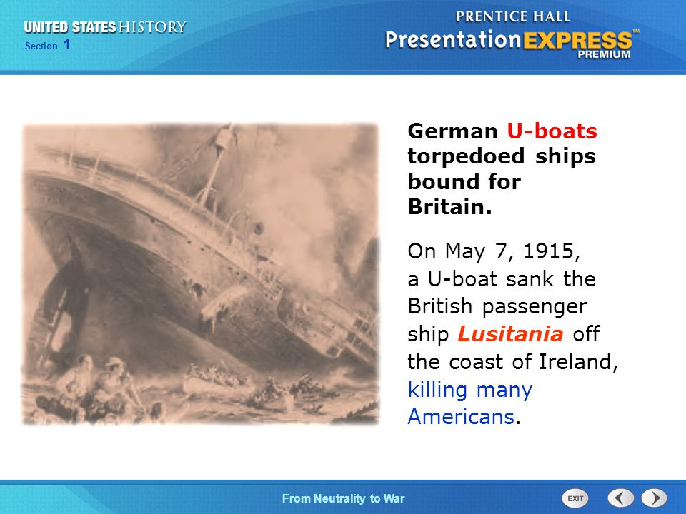 German U-boats torpedoed ships bound for Britain.