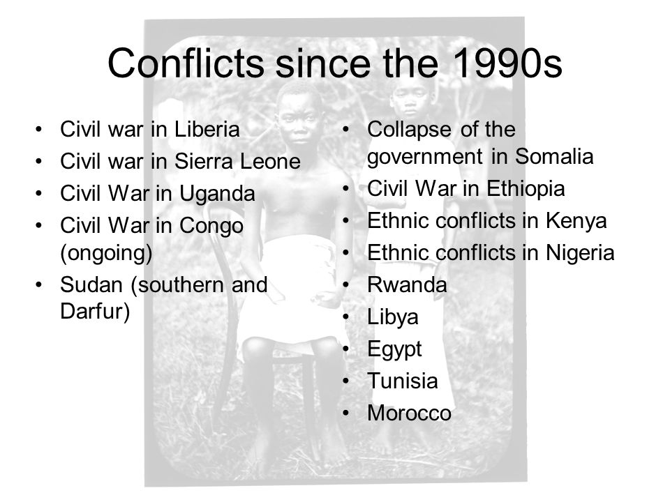 Conflicts since the 1990s Civil war in Liberia
