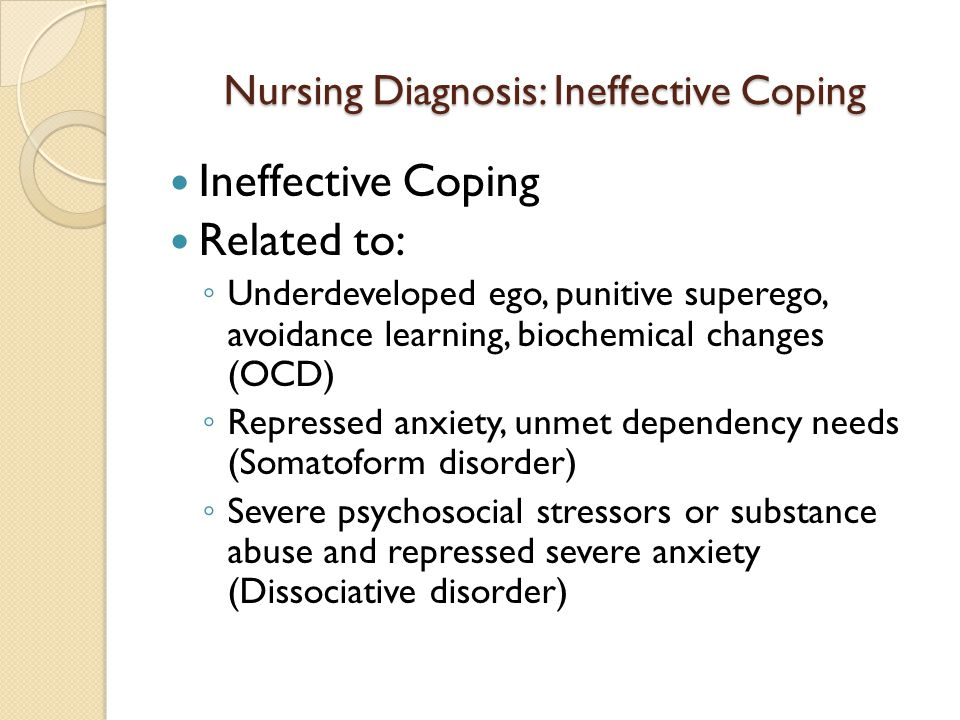 nursing care plan for ineffective coping related to substance abuse