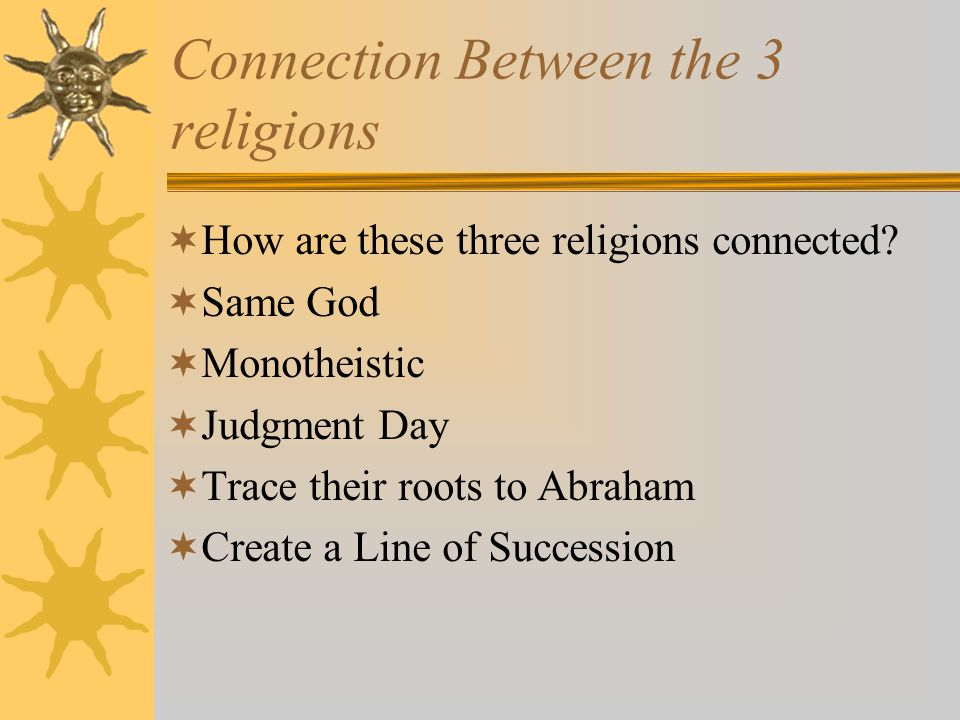 Connection Between the 3 religions
