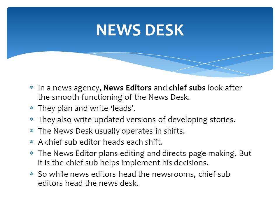 news editor functions
