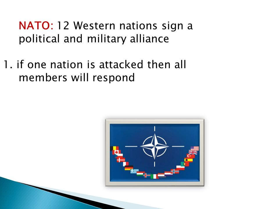 NATO: 12 Western nations sign a political and military alliance 1