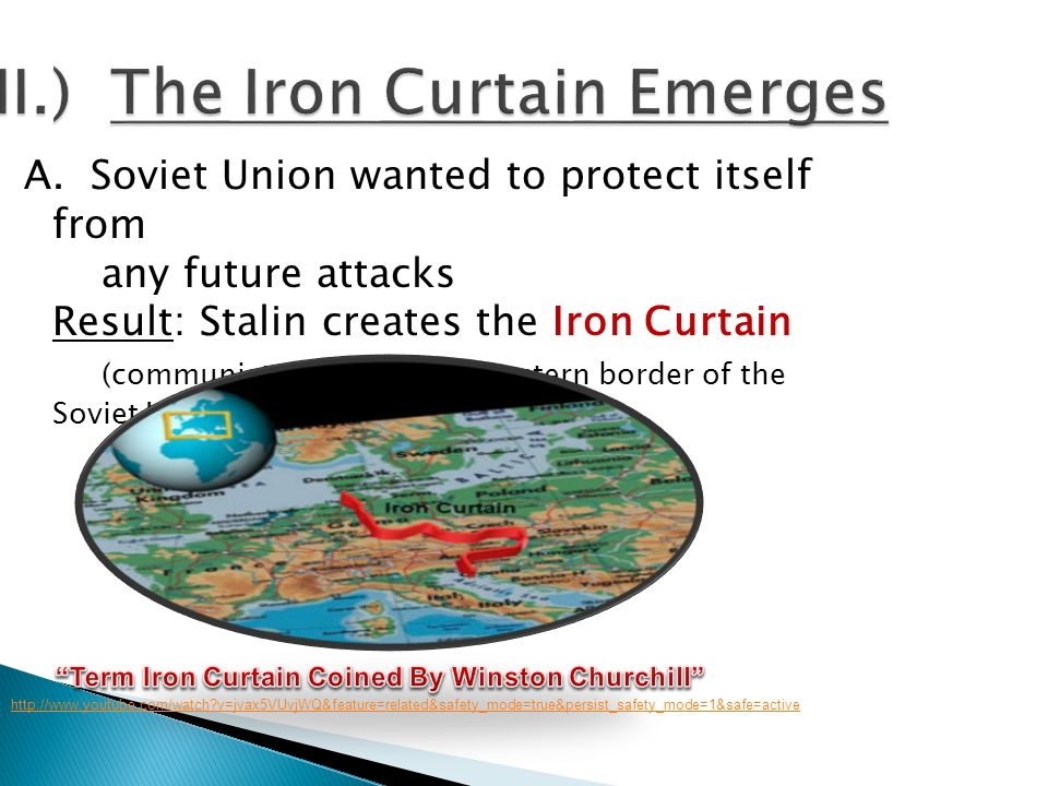 II.) The Iron Curtain Emerges