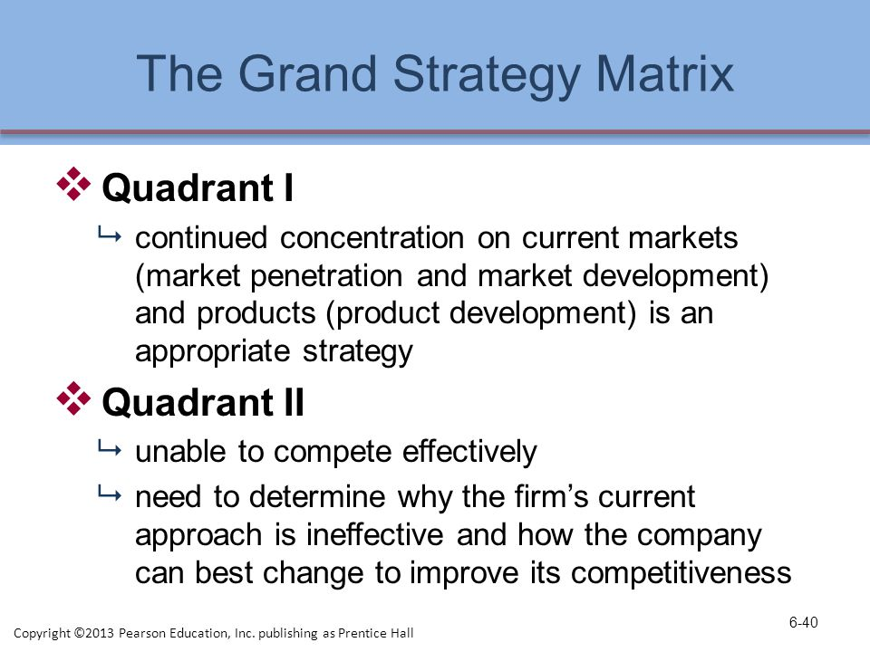 the grand strategy matrix