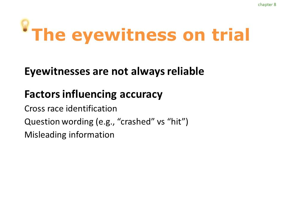 The eyewitness on trial