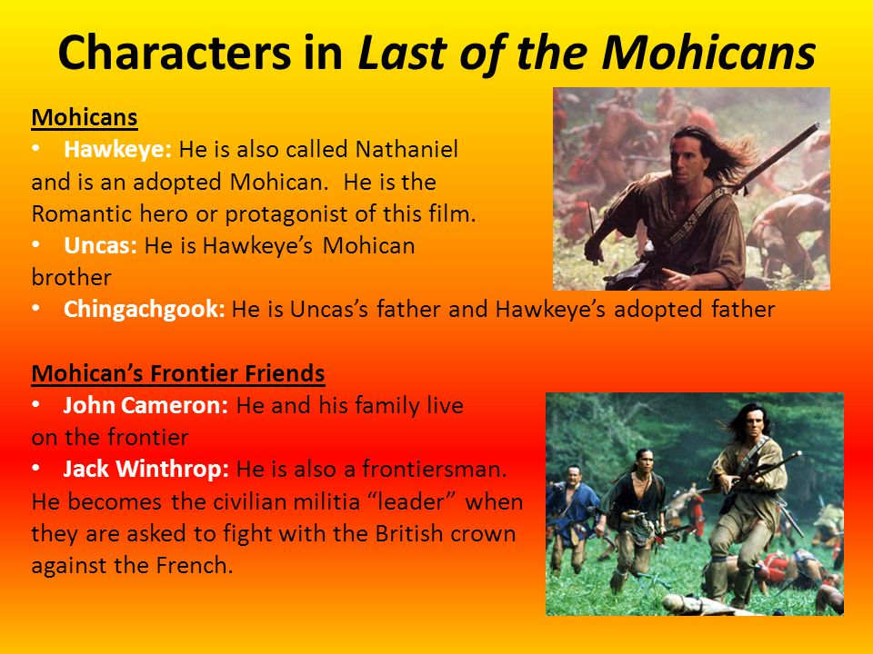 romanticism in the last of the mohicans