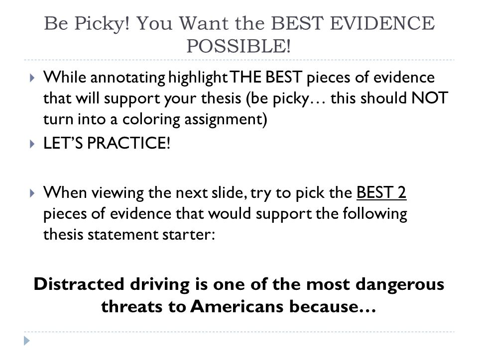 distracted driving thesis statement