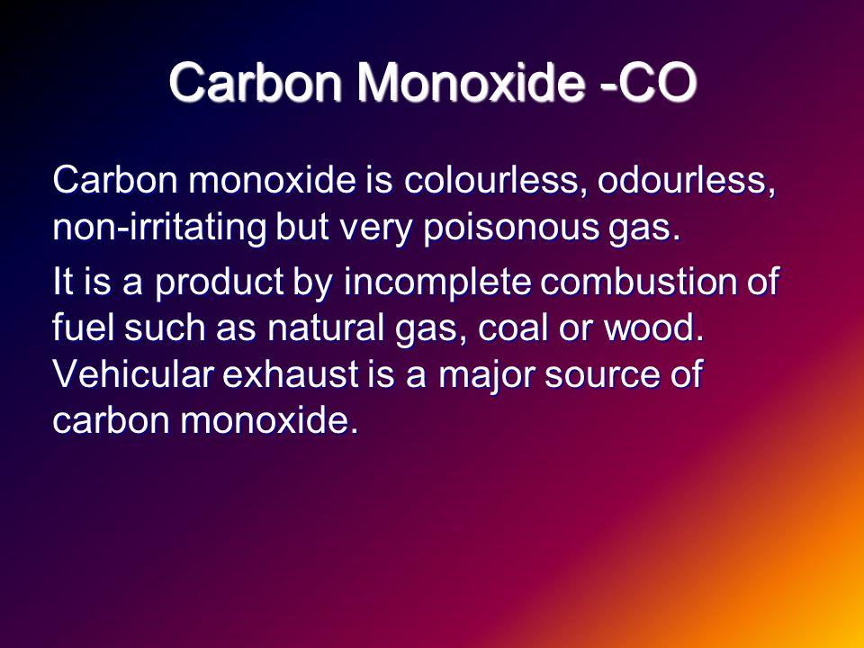 Is Carbon Monoxide A Major Component Of Natural Gas